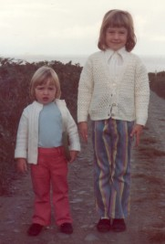 1974 Liz and Rachel 1974 Pembroke holiday